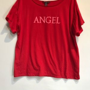 Victoria Secrets Angel Tee/sleep top. Red L